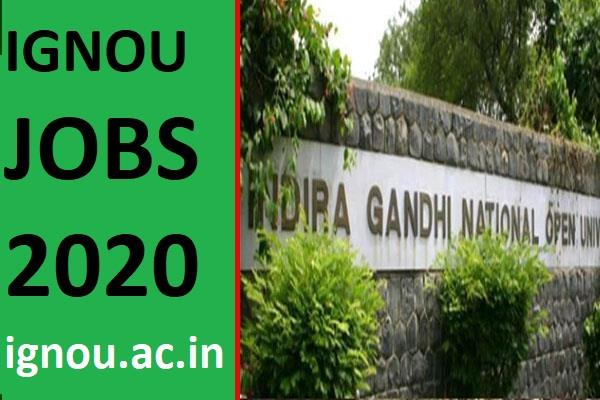 ignou recruitment 2020 application date extended new dates