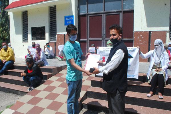 health dept employees protest in kathua
