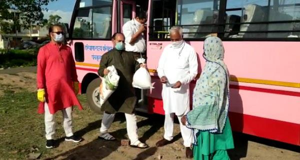 maharaja agrasen welfare trust distributed dry rations to the needy