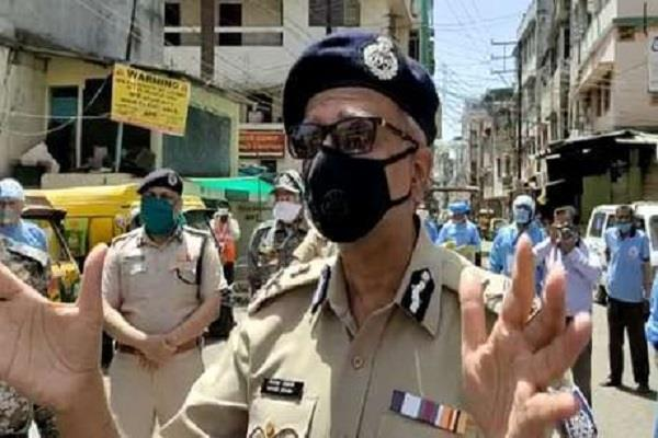 mp dgp arrived indore stock situation bakhal say  difficult time pass