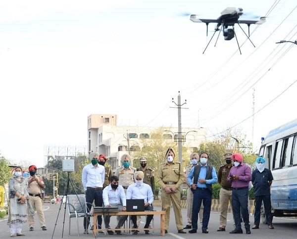 commissioned police will keep eye who violate curfew rules through drones