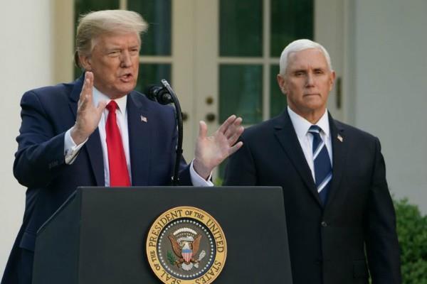 us vice president pence corona test negative trump informed