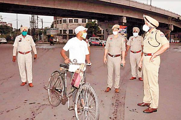 police commissioner came out in the field tightened screws on maskers