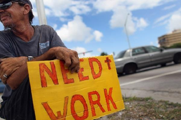 3 million people unemployed in america