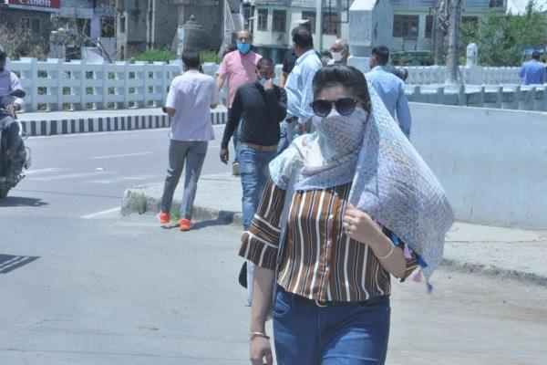 mercury climbed in himachal una hottest on tuesday