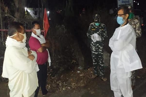 corona knock in mandla vidyanagar concentration area declared