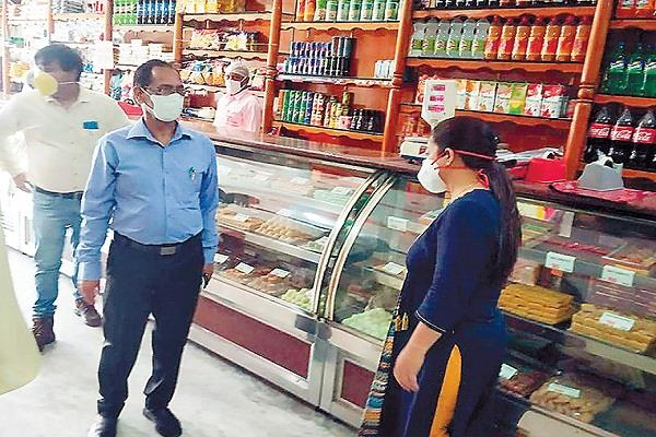 health department team checking in bakeries sweet shops and restaurants