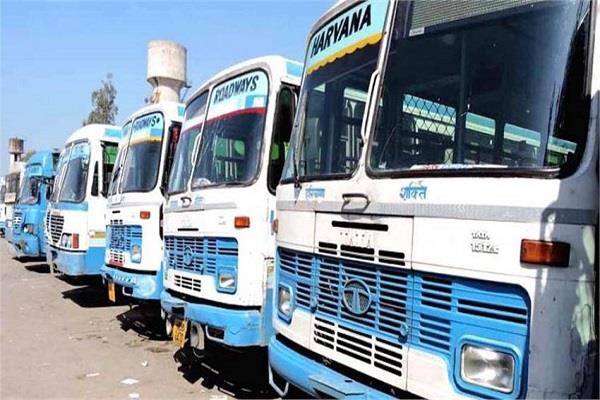 big relief to the people of haryana stranded in delhi bus service