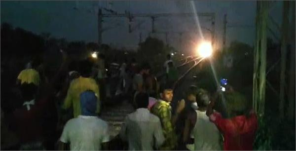 workers train stood at kashi station for many hours workers created a