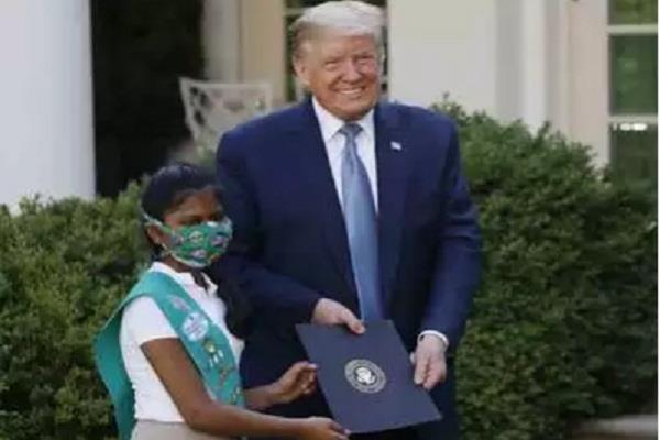 kovid 19 trump honored 10 year old indian american girl