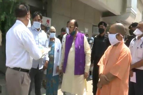 cm yogi inspects emergency ward of ram manohar lohia hospital