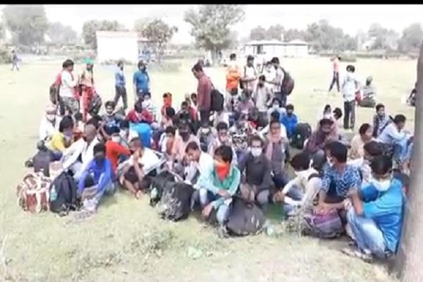 70 thousand laborers got registered in this district to return home