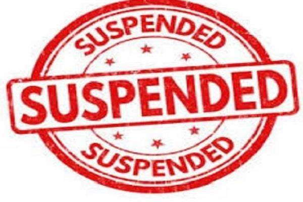 two policemen including station incharge suspended for negligence in duty