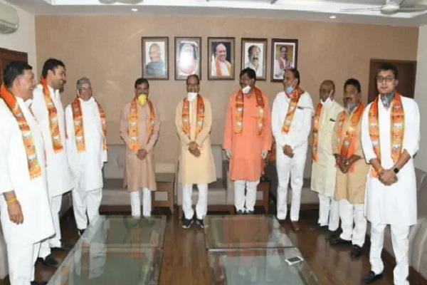 big shock to congress before by election many leaders join bjp
