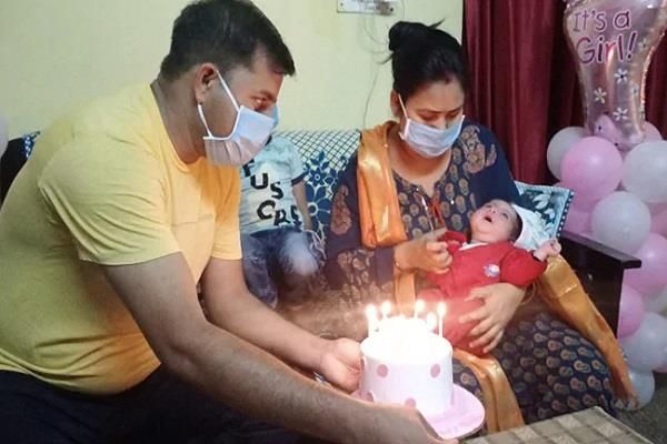soldier wife and newborn daughter won battle with corona