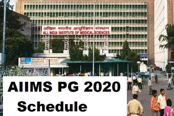aiims pg 2020 aiims released pg exam schedule registration by 8 may