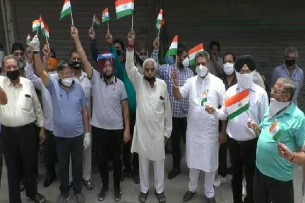 shopkeepers march out in ludhiana
