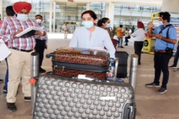 scanning of passengers as soon as they reached mohali airport