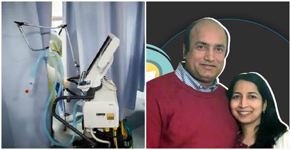 covid 19 indian american couple develops low cost portable ventilators