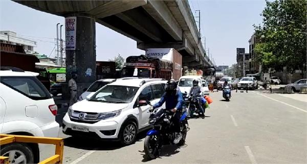 bahadurgarh delhi border gets jam