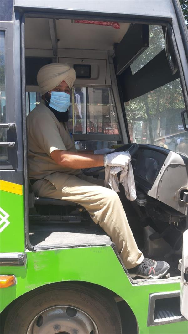 movement of ctu buses started in chandigarh