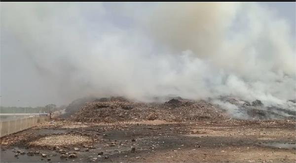 fire in dumping ground