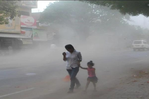 meteorological department released alert possibility of dust storm