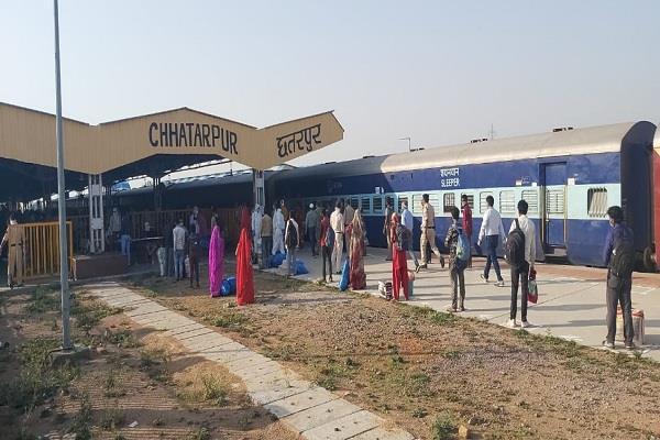 migrant laborers returned to chhatarpur by shramik express