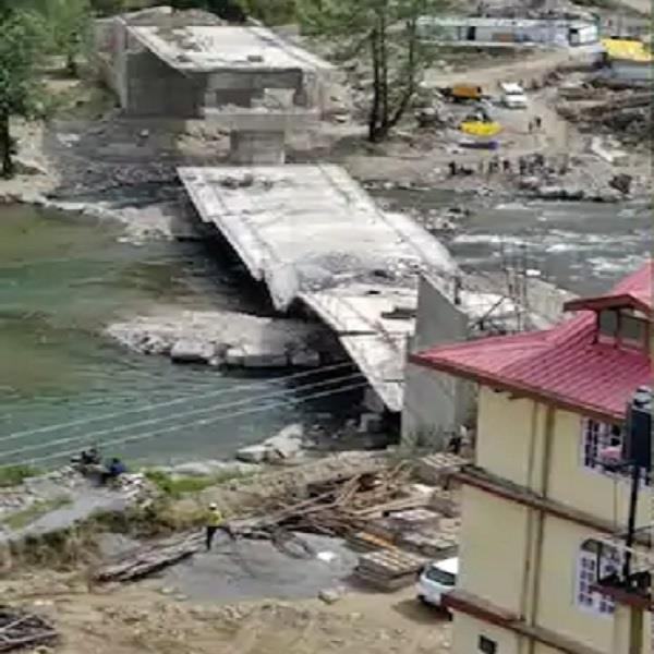 the bridge being built on the pabbar river fell