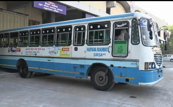 a bus left for panchkula on the third day from sirsa