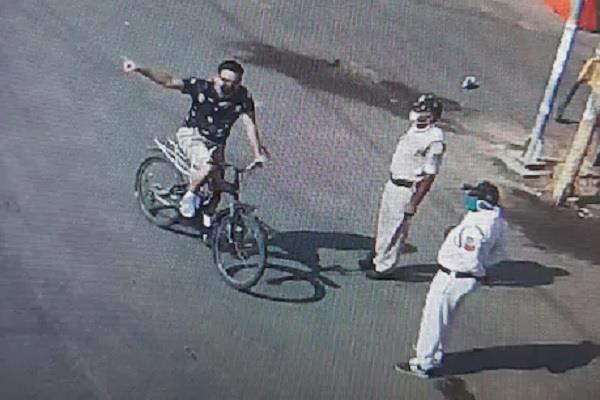 sp not recognize sp shahdol bicycle polic seen duty every police point