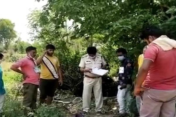 dead body found son s well father s death cut off by train narsinghpur