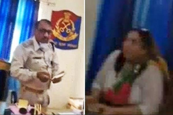 jailor s having lunch with a prisoner s wife goes viral in gwalior central jail