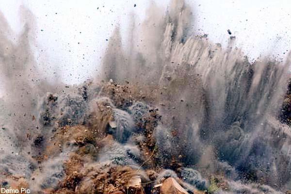 blast in slate mine 3 injured