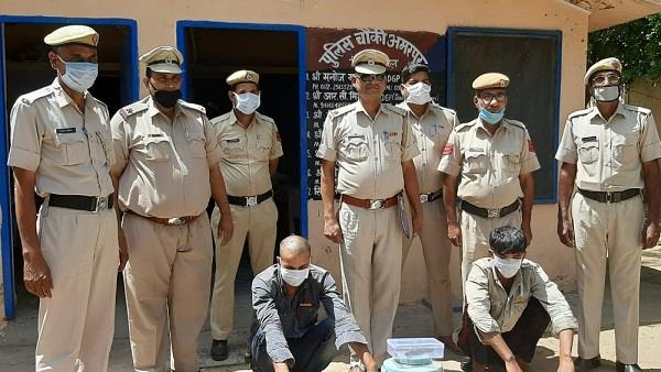 police arrested two gang rape accused with illegal weapons