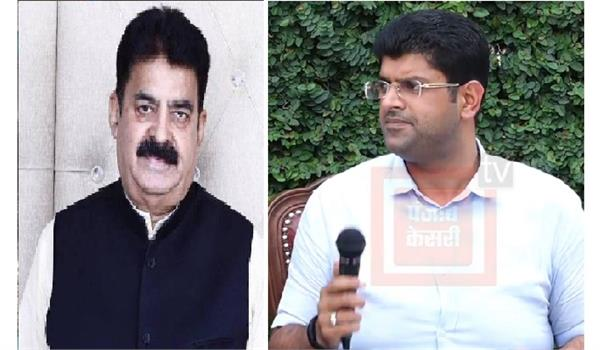 dushyant took open stand in favor of jjp leader