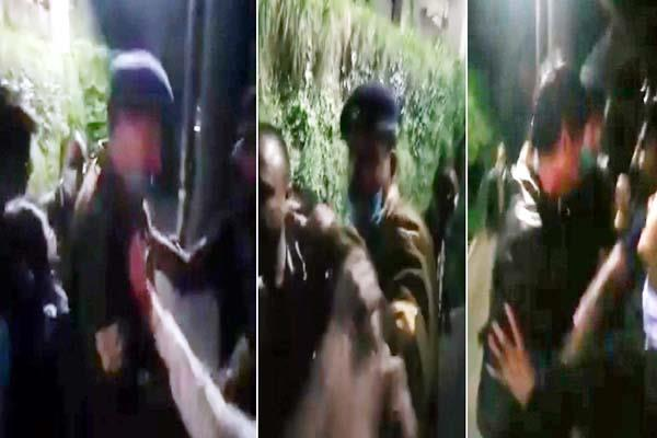 attacked with stick and bat on policemen including sho