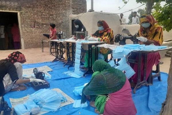 jeevika group made 30 lakh masks in bihar