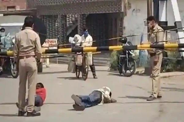video of police brutality on laborers goes viral on social media sp shows line