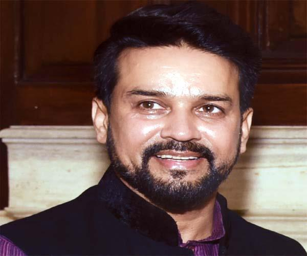 union minister of state for finance and corporate affairs anurag thakur
