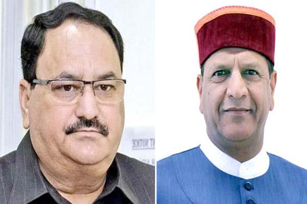 jp nadda accept resignation of rajeev bindal