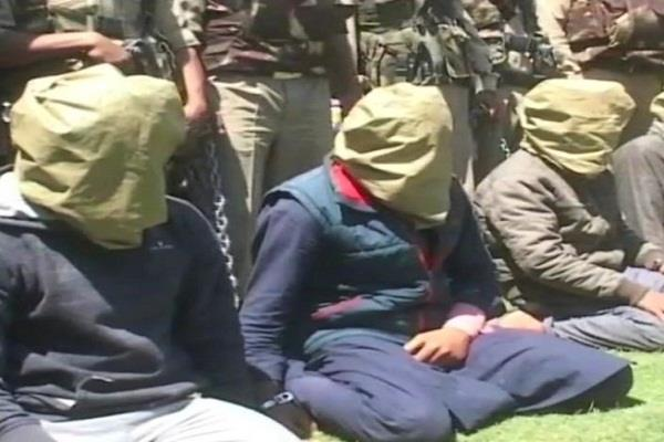 four lashkar e taiba terrorists arrested arms recovered in large quantity