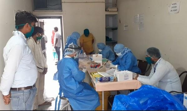 health department conducted random testing of 45 people on corona virus