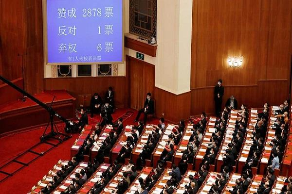 the disputed hong kong security bill passed in china s parliament