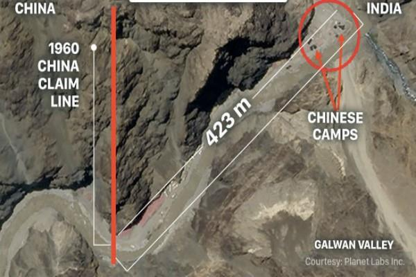 chinese soldiers entered indian territory up to 423 meters inside galwan