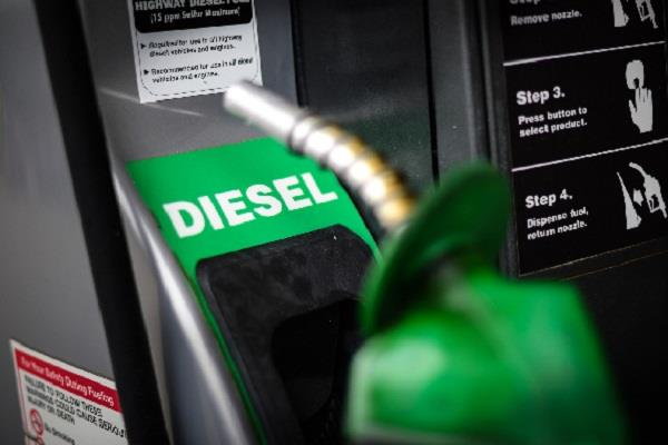 diesel becomes costlier for the first time in the country