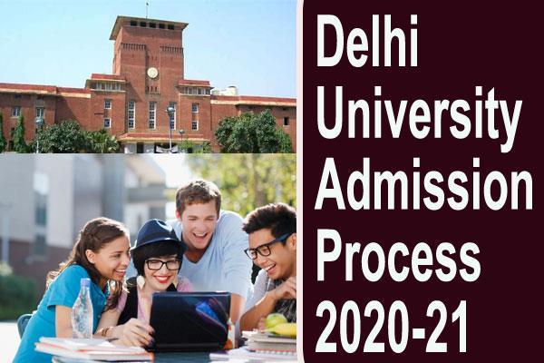 du admission 2020 delhi university admission process to start online