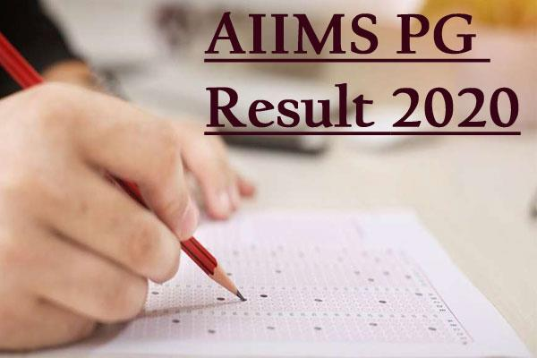 aiims pg result 2020 complete result to be out on this date