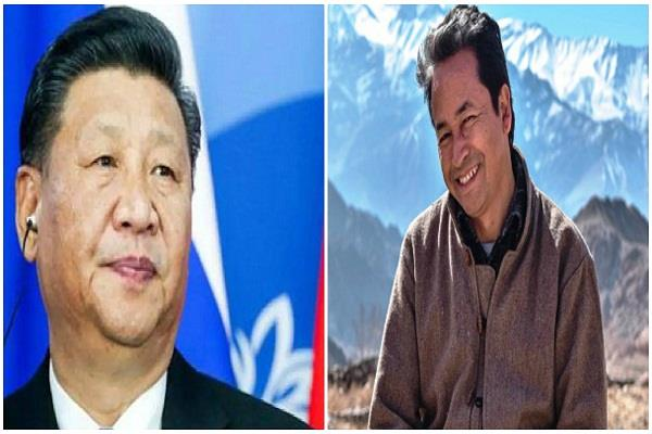 china scared by an appeal by sonam wangchuk