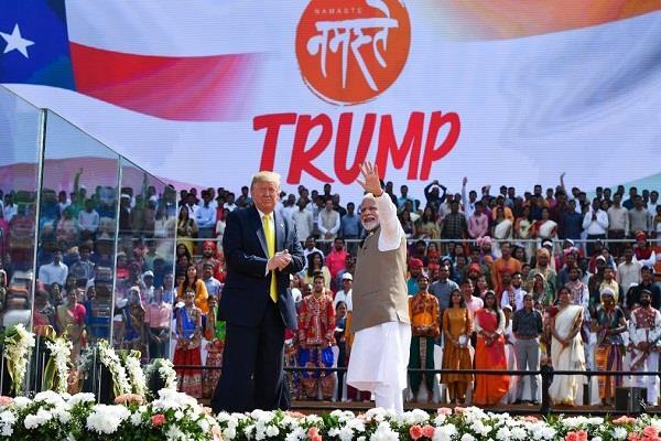 is corona spread in india due to namaste trump